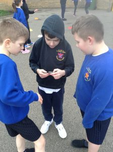 Using a compass and positional vocabulary